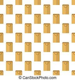 Blank paper package pattern seamless