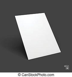 Blank paper sheet mockup