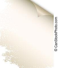 Blank paper sheet.