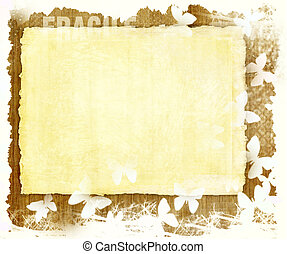 Blank paper sheet on wooden grunge background