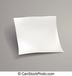 blank paper sheet template