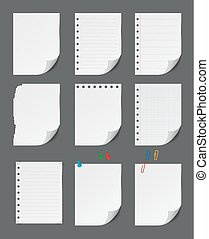 Blank paper sheet with push pin set