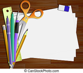 Blank Paper Showing Copyspace Notepad 3d Illustration