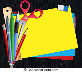 Blank Paper Shows Copyspace Notepad 3d Illustration