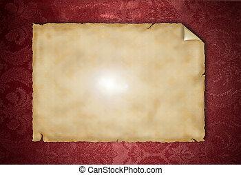 Blank paper - Blank vintage paper on grunge background