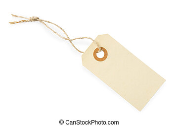 Blank Paper Tag Label - Blank paper tag with cotton string...