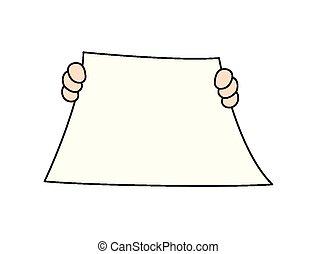Blank Paper Vector Banner