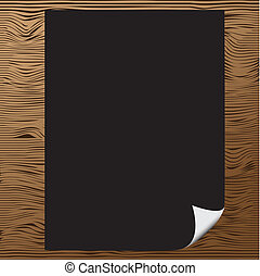 Blank paper with corner curl
