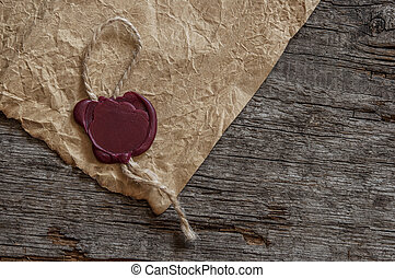 Blank paper with wax seal