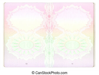 Blank Passport pages - Blank United Kingdom passport pages....
