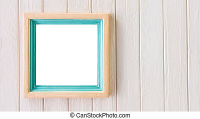 Blank Pastel wooden frame with copy space