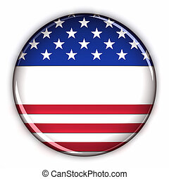 Blank patriotic button - American style button with blank...