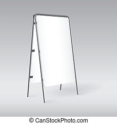 Blank pavement sign isolated, template for your design