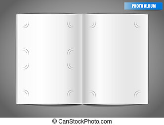 Blank photo album vector illustration