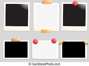 blank-photo - Collection of six empty photos, vector...