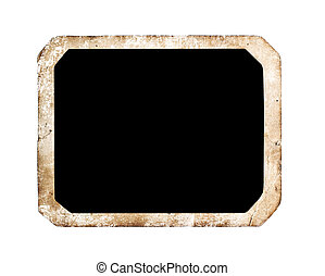 Blank photo frame isolated on white background, with...