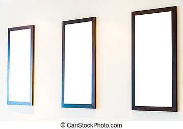 Blank Photo frame on wall