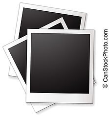 Blank photo frames - Illustration of three blank photo...