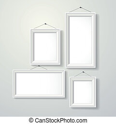 blank photo frames set