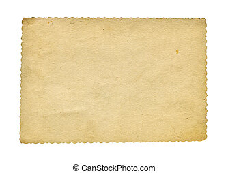 Blank photo - Grunge stained textured photo paper isolated...
