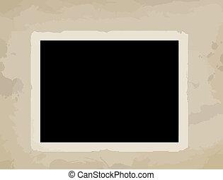 Blank photo on aged background