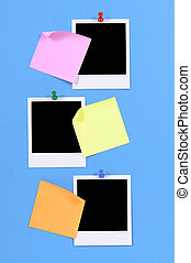 Blank photo prints with sticky notes (XL)