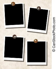 blank photo templates with push pin