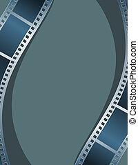 Blank photo - video template, illustration