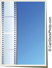 Blank photo - video template, illustration