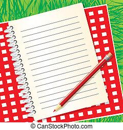 picnic menu - blank picnic menu on the background of grass. ...