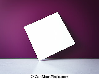 Blank picture frame. 3d rendering