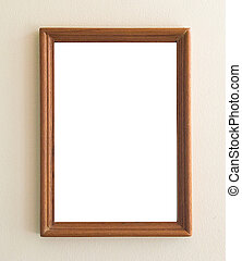 blank Picture frame brown wood frame
