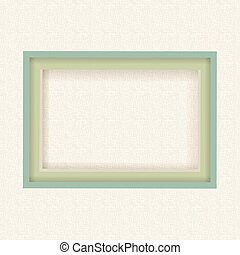 Blank picture frame on burlap texture background