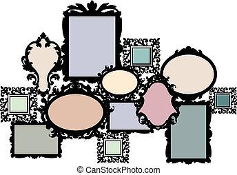 blank picture frame set - blank multiple picture frame set,...