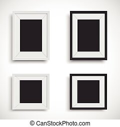 Blank picture frame set