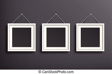 blank picture frame template set hanging on wall