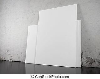 blank picture over concrete wall