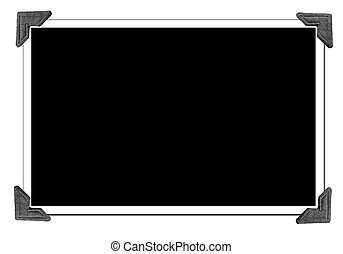 Blank Picture with photo corners