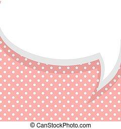 Blank pink balloon template