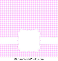 Blank pink card