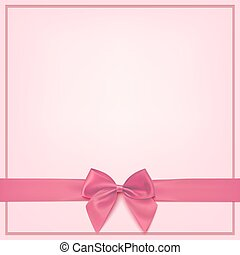 Blank pink greeting card template.