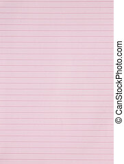 Blank pink lined paper sheet background or textured