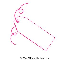 Blank Pink Tag