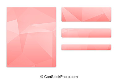 blank pink template