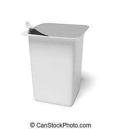 blank plastic container for yogurt