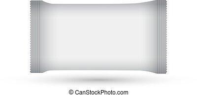 blank plastic package