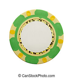 Blank Poker Chip - Casino Gambling Chip with Copy Space...