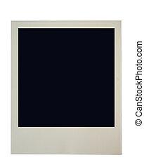 blank polaroid frame on pure white background