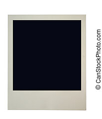 blank polaroid frame on pure white background