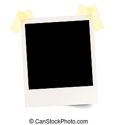 Blank polaroid with adhesive tape